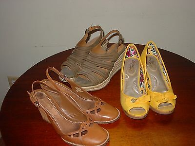 3 Pairs Casual Dressy Women's Shoes,  Size 7 1/2 - 8, Great Shape