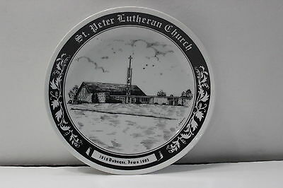 1985 St. Peter Lutheran Church Dubuque Iowa Asbury Rd Collector's Plate 1910-85