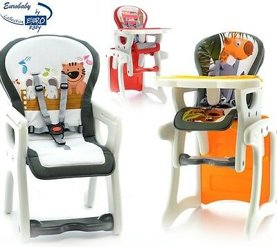 Foldable 3in1 Baby Infant Booster Highchair Feeding Chair Convertable Table