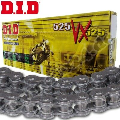 DID 525VX Chain 112 Rollers BLACK RIVET LINK X-RING Motorcycle Drive