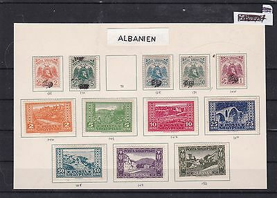 albania  1920 mounted mint stamps  ref 7615