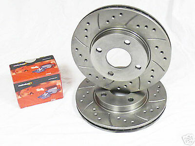 Corsa D 1.6 VXR 11-15 Drilled Grooved Front /& Rear Brake Discs Pads