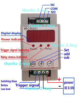 DC 12V 24V Digital LED Cycle Loop Delay ON OFF Trigger Switch Timer Relay Module