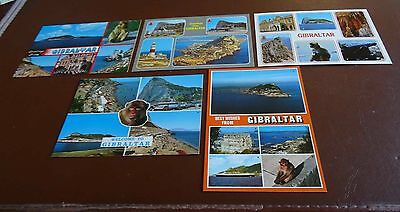 Spain - Gibraltar - Lot of 5 Different Unposted Postcards