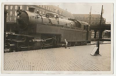 Steam Locomotive At Copenhagen.postcard, Photographed By  Cecil Tracy 1937
