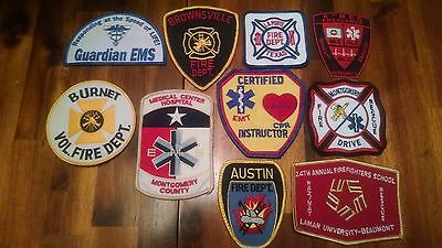 LOT OF 10  FIRE & EMS patches