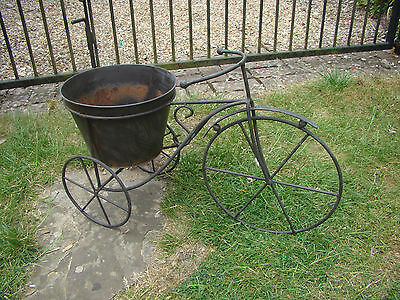 Large Metal Bicycle Garden Planter Flower Pot Plant Display Patio Herbs Novelty