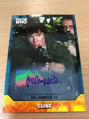 Topps Dr Who Signature Series Joe Dempsie As Cline Autograph Card