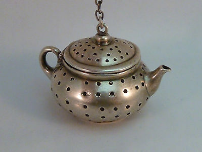 Watson Sterling Tea Ball Infuser Teapot Shape Silver 925 Antique Vintage 7086