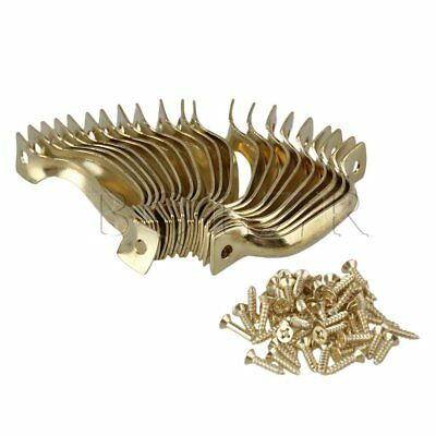 20 x Jewelry Box Door Drawer Mini Arched Pull Cupboard Handle Yellow Hardware
