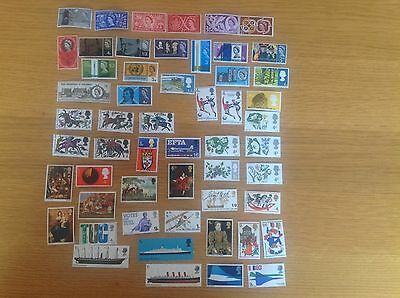 50 GB Pre-Decimal Mint Stamps Commemorative - FREE POSTAGE