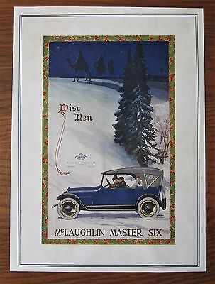 Stunning 1919 Canadian Car Ad Mclaughlin Buick Christmas Theme Master Six