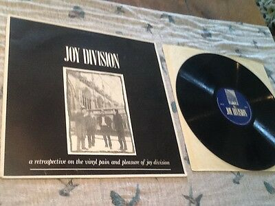 Joy Division A Retrospective The Singles 1977/1979 rare private press VG+/VG+