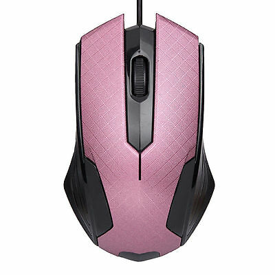 1200 DPI USB Wired Optical Colour Mouse Gaming Mouse For PC Laptop Computer PINK