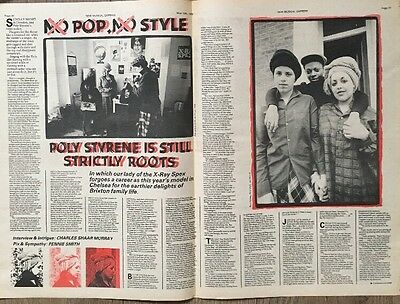 """Poly Styrene On 3 Pages Original Advert 16 X 12"""" Poster Size 13 May 1978"""