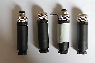 Selection Of M8 Plugs And Sockets (4 In Total)