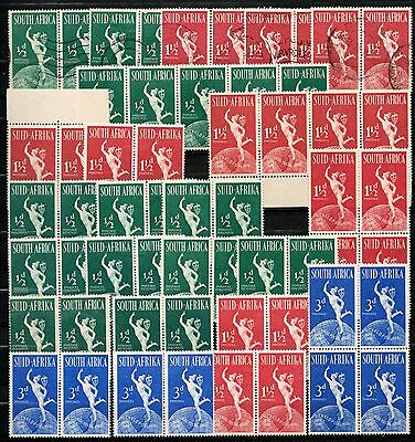 South Africa - 1949 Upu - Mint & Used Pairs & Blocks - Marginals + Some Mnh