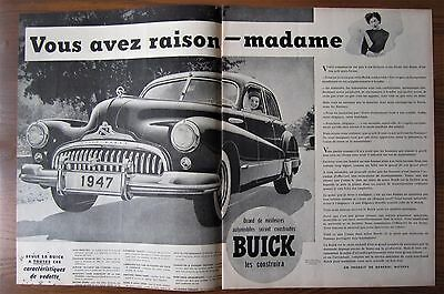 Stunning 1947 Canadian Car Ad Buick French Language Ad