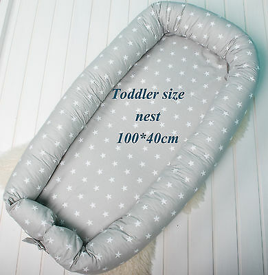 Toddler size babynest with Removable cover, co sleeper, crib, pod, snuggle nest
