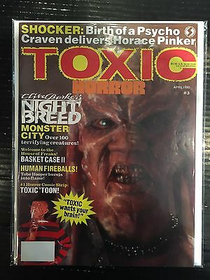Toxic Horror #3 FN Free UK P&P Horror Movie Magazine