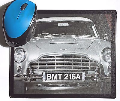 Goldfinger Sean Connery Aston Martin DB5 Classic movie Car poster Mouse Mats Pad