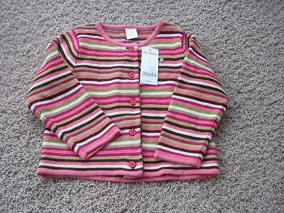 NEW Gymboree Size 3 3T Striped Cardigan Girls Sweater NWT Girls Pink Spring
