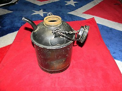 Antique Vintage Npr Eagle Oil Can