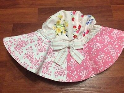 Gymboree  LOVE IS IN THE AIR Size 3-4 years Sun Hat Reversible ~ VG
