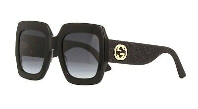 e790857c4a029 Gucci GG0102S glitter multicolor gold grey shaded yellow (005 AF) Sunglasses