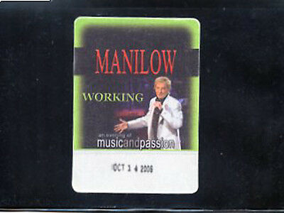 Barry Manilow 2006 - An Evening of Music and Passion -satin backstage pass crew