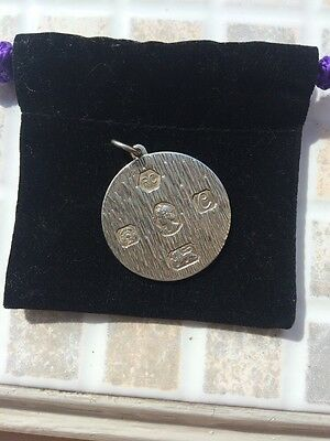 Lovely  English  Solid Sterling Silver Ingot Pendant