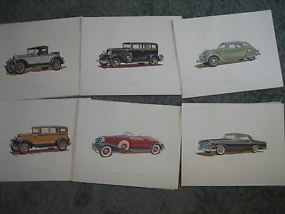 Set of 6 1924 Chrysler Six 1928 Plymouth 1930 Dodge 8 1931 Imperial + Posters
