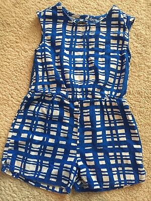 Old Navy Romper Size 3T Blue And White Cute Cutout On Back
