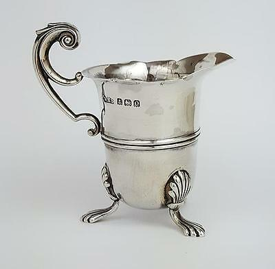 Antique STERLING SILVER CREAM JUG Birmingham 1913