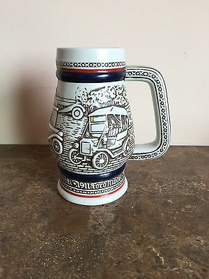 """Collectible 1982 Avon Beer Stein Small Automobiles #298206  5"""" High"""
