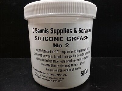 500g Silicone Grease -50°C to +230°C WRAS Approved, Plastic & Rubber Inert