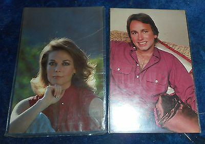2 Movie Star Post Cards, Natalie Wood And John Ritter