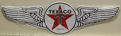 TEXACO Gasoline & Oil Metal Sign die cut wing Logo gas and oil auto service