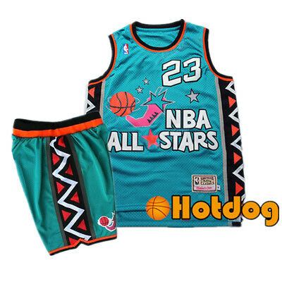 1996 NBA All Stars #23 Michael Jordan Jersey Men Adult Youth Basketball Clothes
