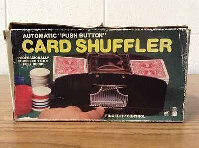 Vintage Battery Operated Automatic Casino Poker Playing Card Shuffler (2 Deck)