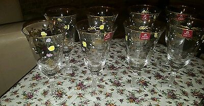 royal albert old country roses beverage glasses hand painted 8 nwt