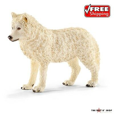 Art Wolf Toy Figure animal Hand Paint Arctic Home Decor Gift Statues Kid Childre