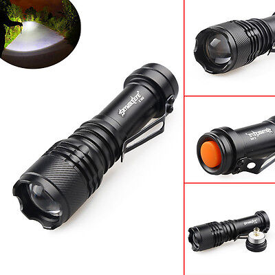 Bright 6000LM CREE Q5 AA/14500 3 Modes Zoomable LED Flashlight Torch Lamp SY0