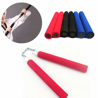 Martial Arts Foam Sponge Padded Karate Stick Training Nunchaku Ninja Nunchuck Y0