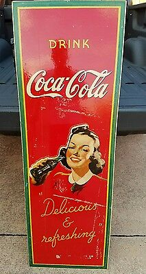 1940's Drink Coca-Cola Masonite Sign