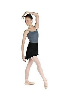 Body Wrappers 990 Black Women's Medium/Large Short Tapered Georgette Wrap Skirt