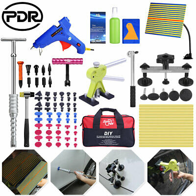 78× Paintless Dent Removal Puller Lifter PDR Tools T Bar Hammer Repair Tap Down
