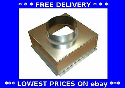 Grille box, top entry plenum box, ventilation, extractor fan, ducting, steel