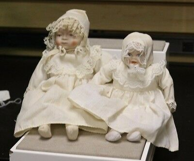 Vintage BSCO Bisque Porcelain Child Doll Lot of 2 *FREE SHIPPING*