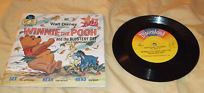 Walt Disney Winnie The Pooh And The Blustery Day  33 1/3 Rpm Record W/story Book